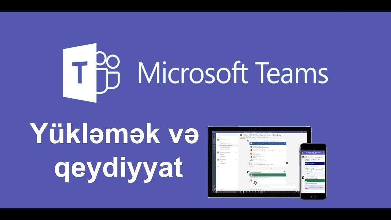 Microsoft Teams Yukləmək Və Qeydiyyat Microsoft Teams Science And Technology