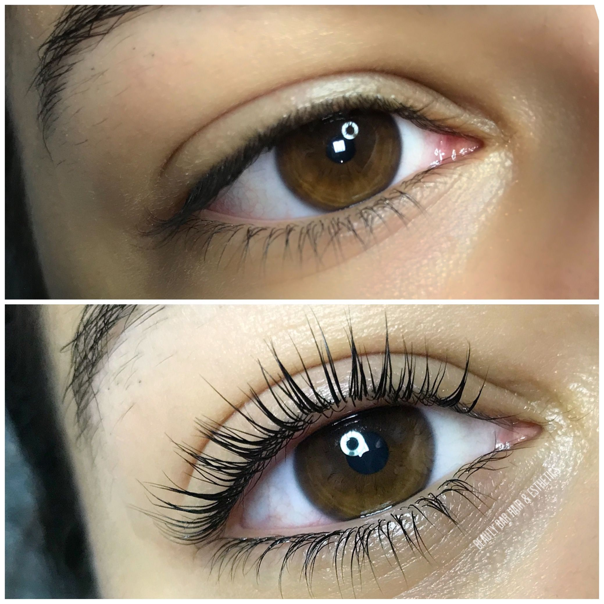 12a7a57d36d Lash Lift & Tint Lashes appear longer and fuller. Great service for people  who don't like or can't have extensions. Beauty Bar Hair & Esthetics #Lashes