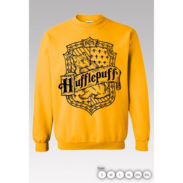 70b8650cd Hufflepuff Sweater Hufflepuff Harry Potter Sweater Hufflepuff... ($25) ❤  liked on Polyvore featuring tops, hoodies, sweatshirts, sports sweatshirts,  ...