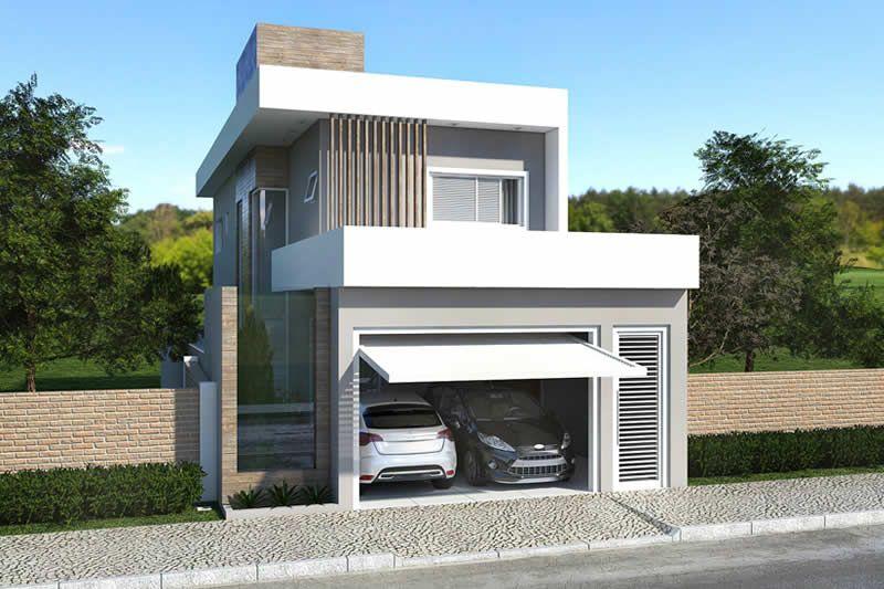 Planta de sobrado com deck e ofurô Dream house em 2019