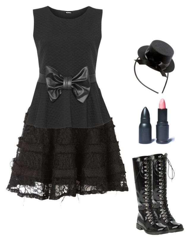 """""""Outfit 391"""" by creaturefeaturerules ❤ liked on Polyvore featuring LunatiCK Cosmetic Labs, Ella Luna and WearAll"""