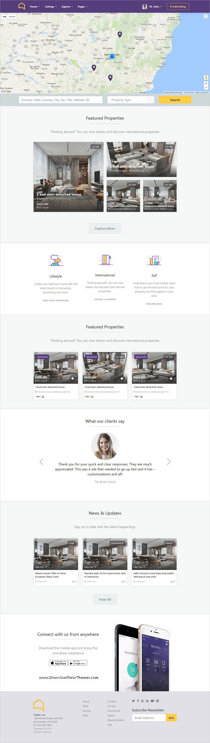Listo real estate bootstrap 40 html template list website listo is clean and modern design 7in1 responsive html bootstrap template for professional realestate flashek Image collections