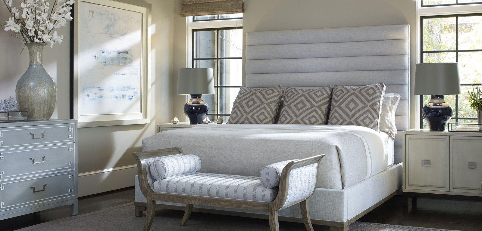 Custom chanel upholstered bed, Bed Down Furniture Atlanta