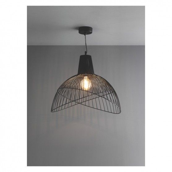 Ben Oversized Black Metal Ceiling Light Now At Habitat