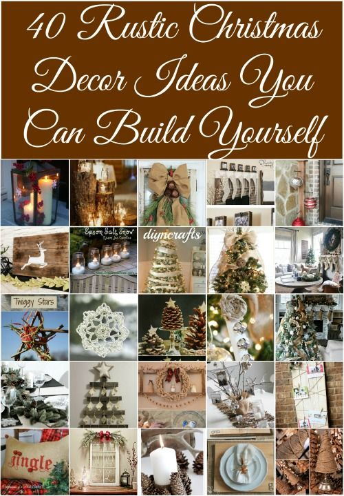 40 rustic christmas decor ideas you can build yourself page 2 of 2 40 rustic christmas decor ideas you can build yourself with pictures solutioingenieria Choice Image