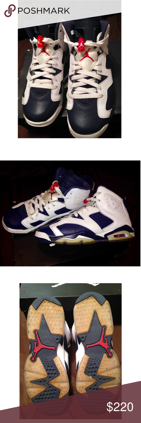 meet 30a61 44d1d Air Jordans 2012 Olympic Retro 6 6 Y women 8 Authentic comes with original  box and insoles. Nike Air Jordan Olympic Retro 6. Size 6 youth but will  also fit ...