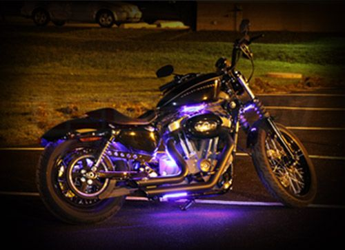 Ledglow Motorcycle Lighting Motorcycle Lights Motorcycle Led Lighting Purple Motorcycle