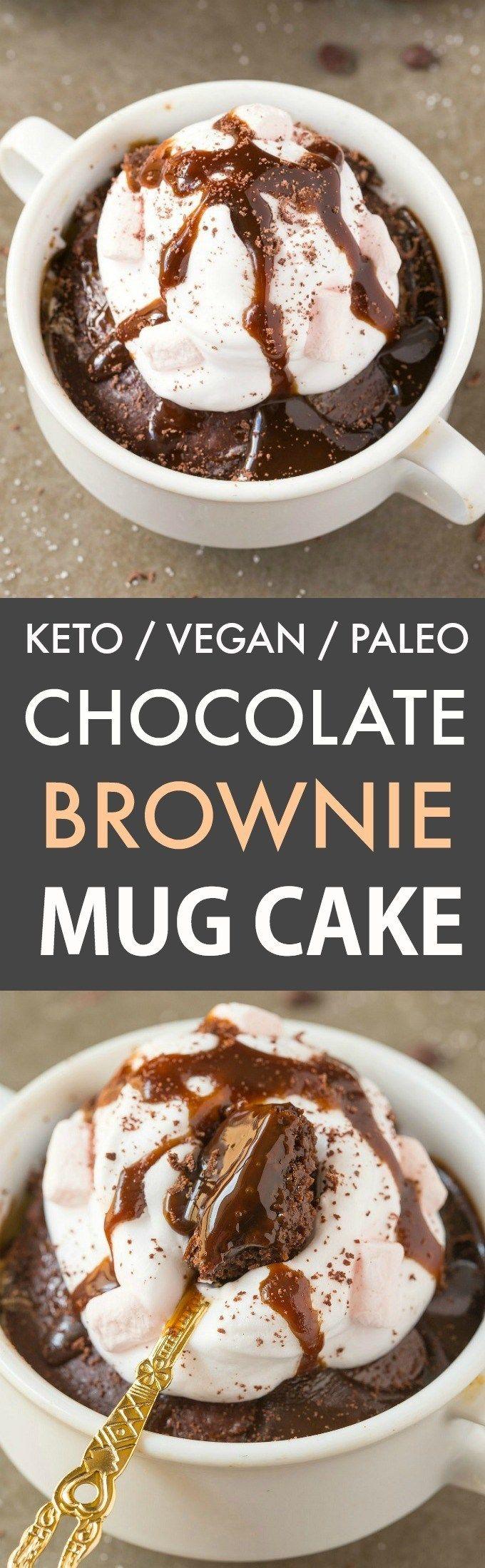 This keto chocolate brownie mug cake is the BEST vegan and ...
