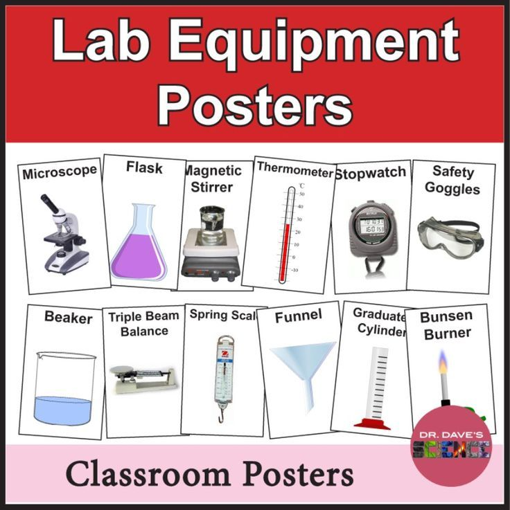 science lab poster