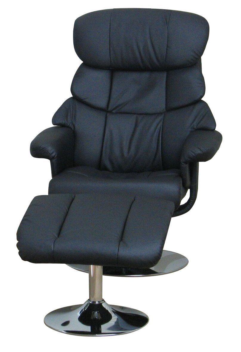 Dynamic24 Kunstleder Relax Sessel Mit Hocker Fernsehsessel Polstersessel Wohnzimmer Schwarz In 2020 Office Chair Chair Furniture