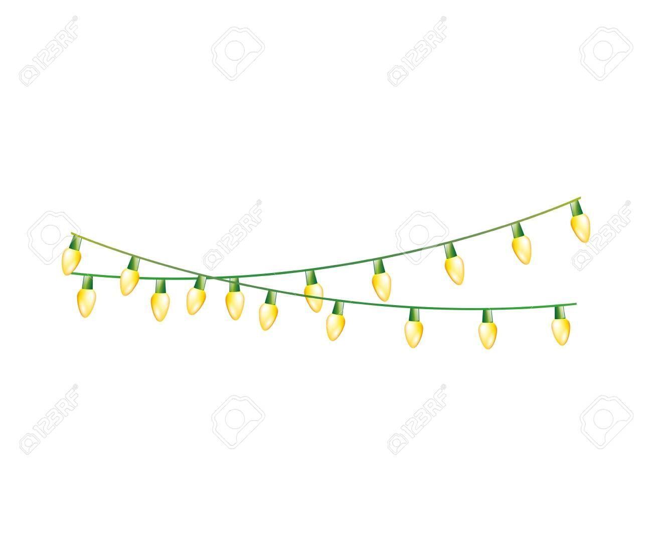 Christmas Lights Decoration Isolated Icon Vector Illustration Design Illus Vector Illustration Design Decorating With Christmas Lights Typography Design Layout