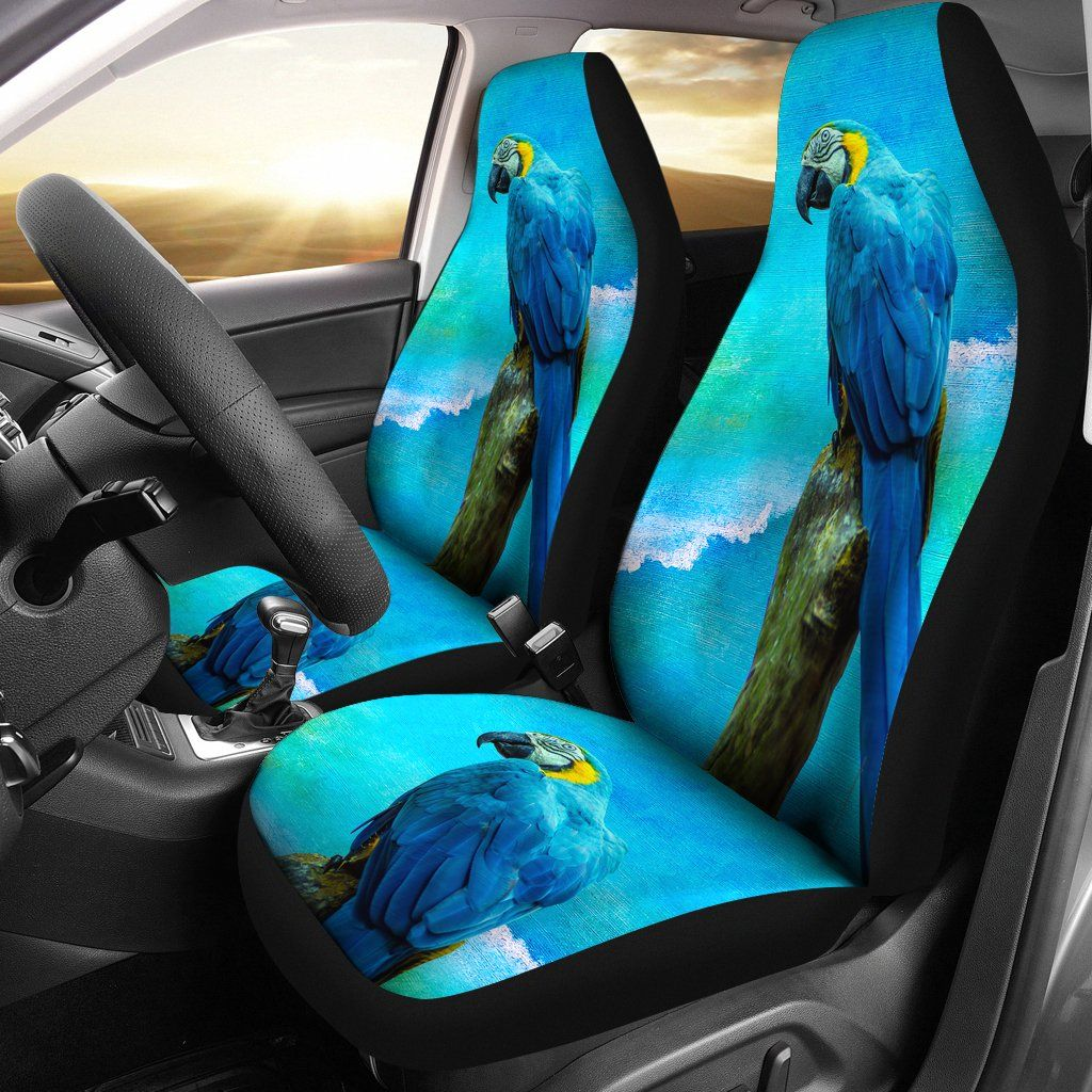 Car Seat Covers Blue Parrot Seat covers, Car seats, Cover
