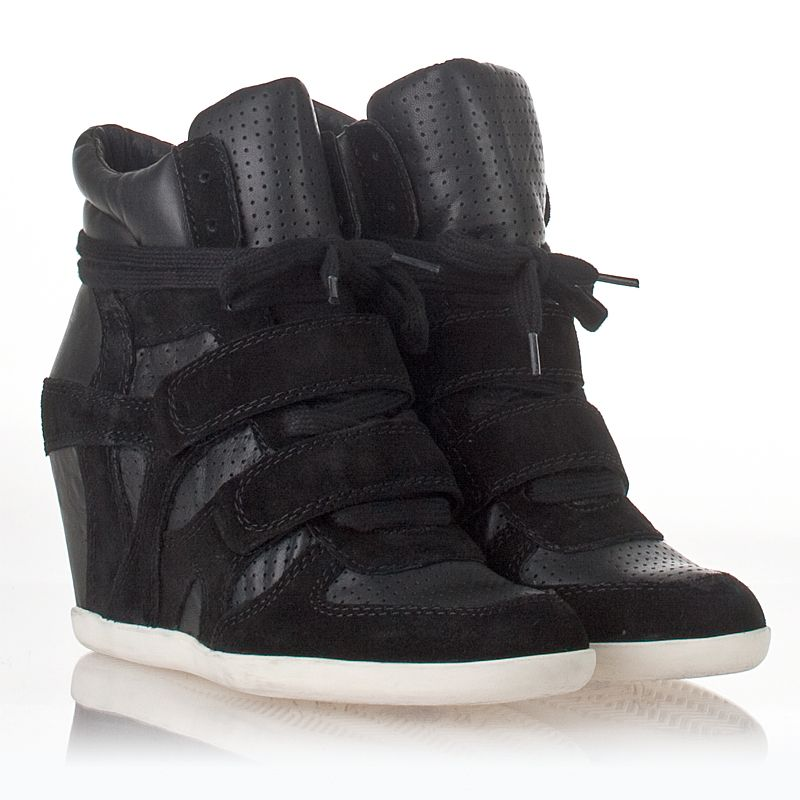 Bea Wedge Sneaker Black Suede 312152 - love these as its a combo of the Isabel sneakers