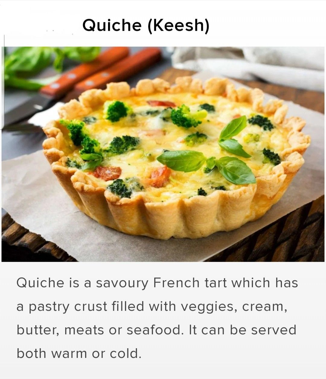 Pin by Navin Sahay on Vocab - Pronunciation (food) in 2020 French tart, Food, Pastry crust