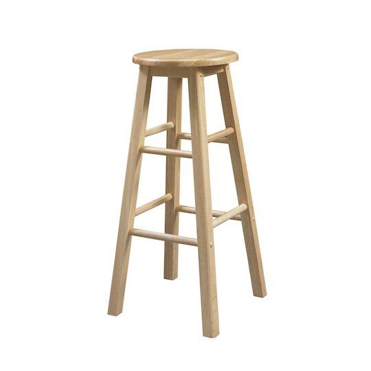 Linon Leila Round Seat Bar Stool In 2019 Products Wood Bar