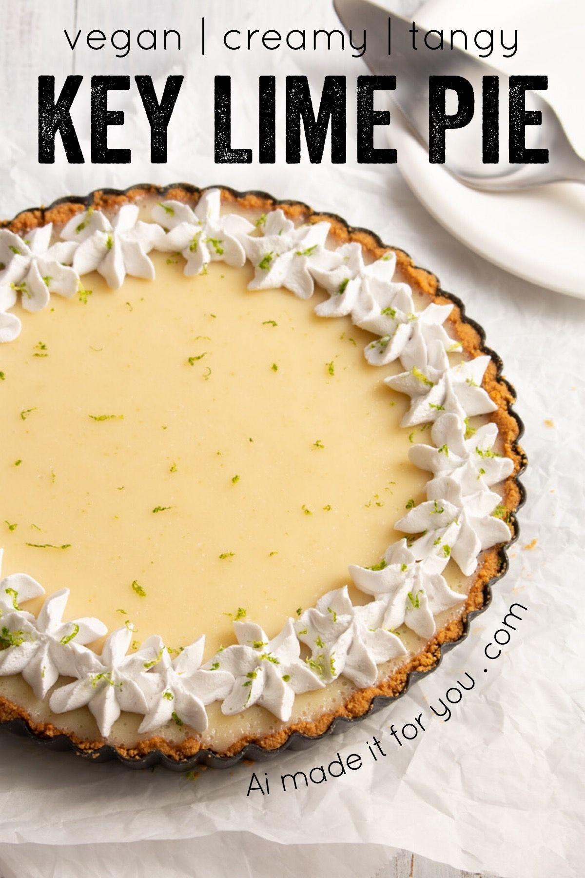 Vegan Key Lime Pie Easy No Bake Recipe Ai Made It For You In 2020 Vegan Key Lime Pie Vegan Key Lime Key Lime Pie Easy