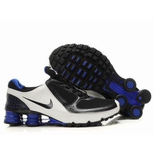 3ca4280fb7d921 Nike Shox Turbo Men Black White Blue Shoes 1002 For  58.00 Go To