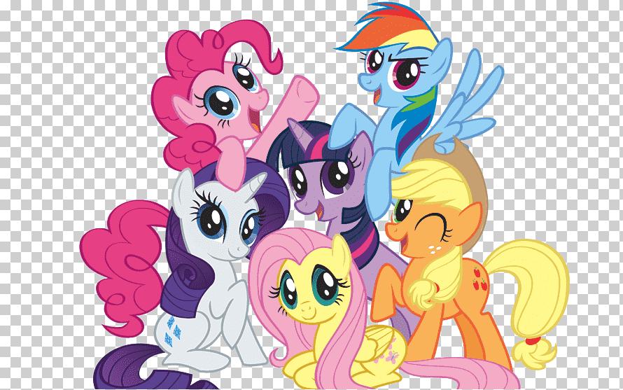 شخصيات My Little Ponies Pinkie Pie Rainbow Dash Twilight Sparkle Rarity Pony المهر الصغير الثدييات الفقاريات الفروسية Shablony Pechati Poni Mlekopitayushie