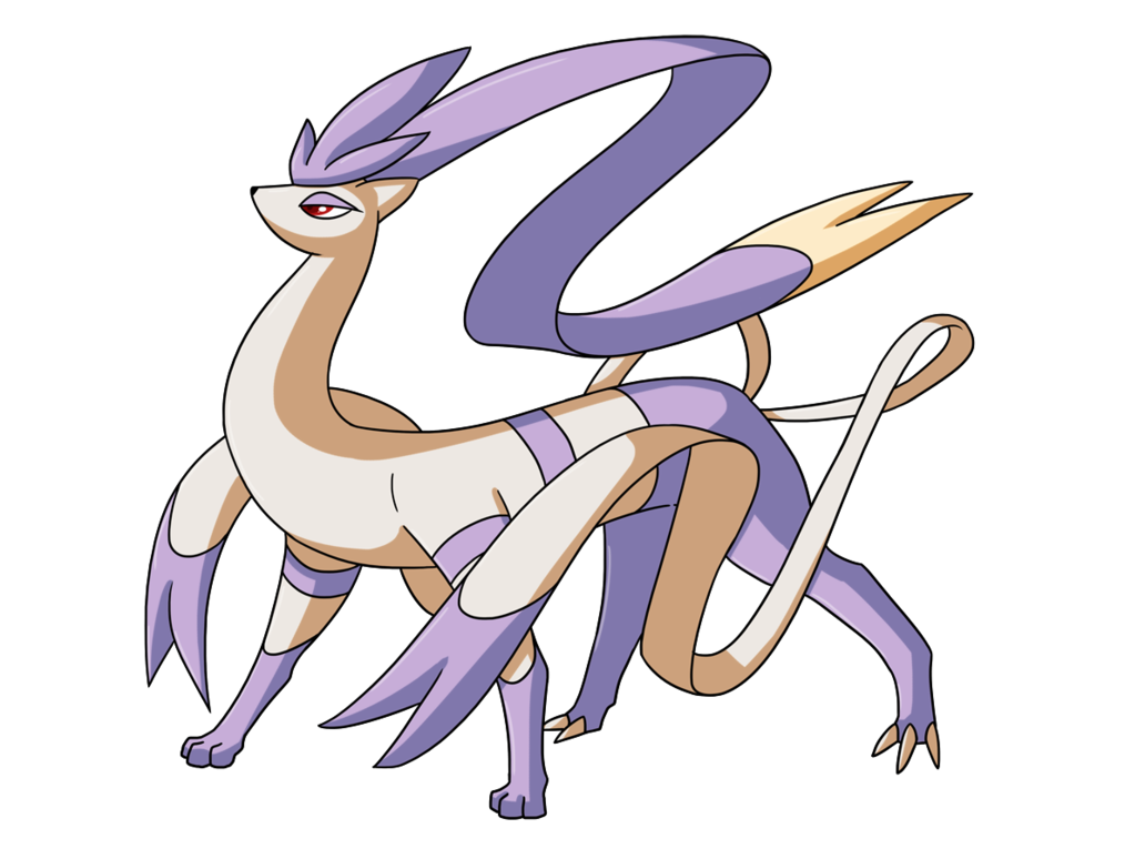 Mienshao And Suicune I Love How They Made The Arm Whips Into Ribbons Fusiones