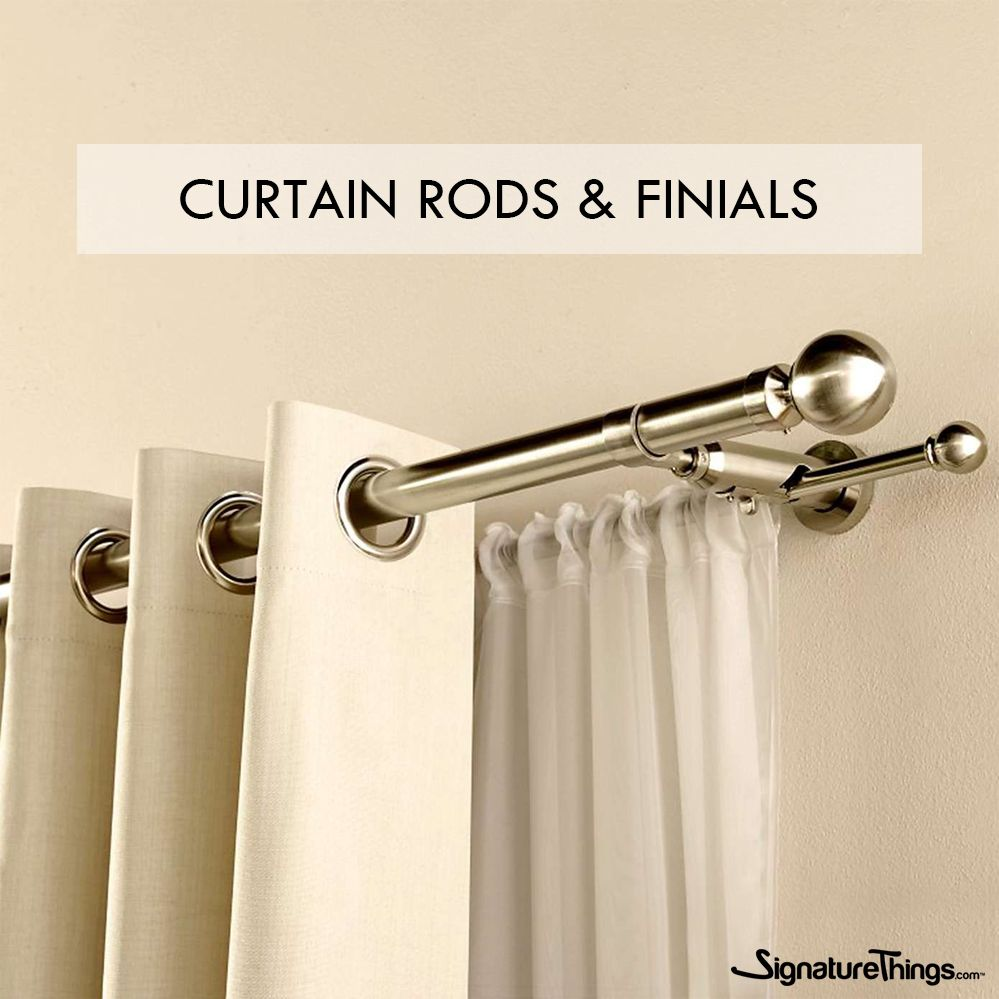 Shop Our Latest Collection Of Designer Drapery Hardware On Signaturethings Com Including Curtain Rods Bracket In 2020 Double Rod Curtains Curtain Poles Curtain Decor