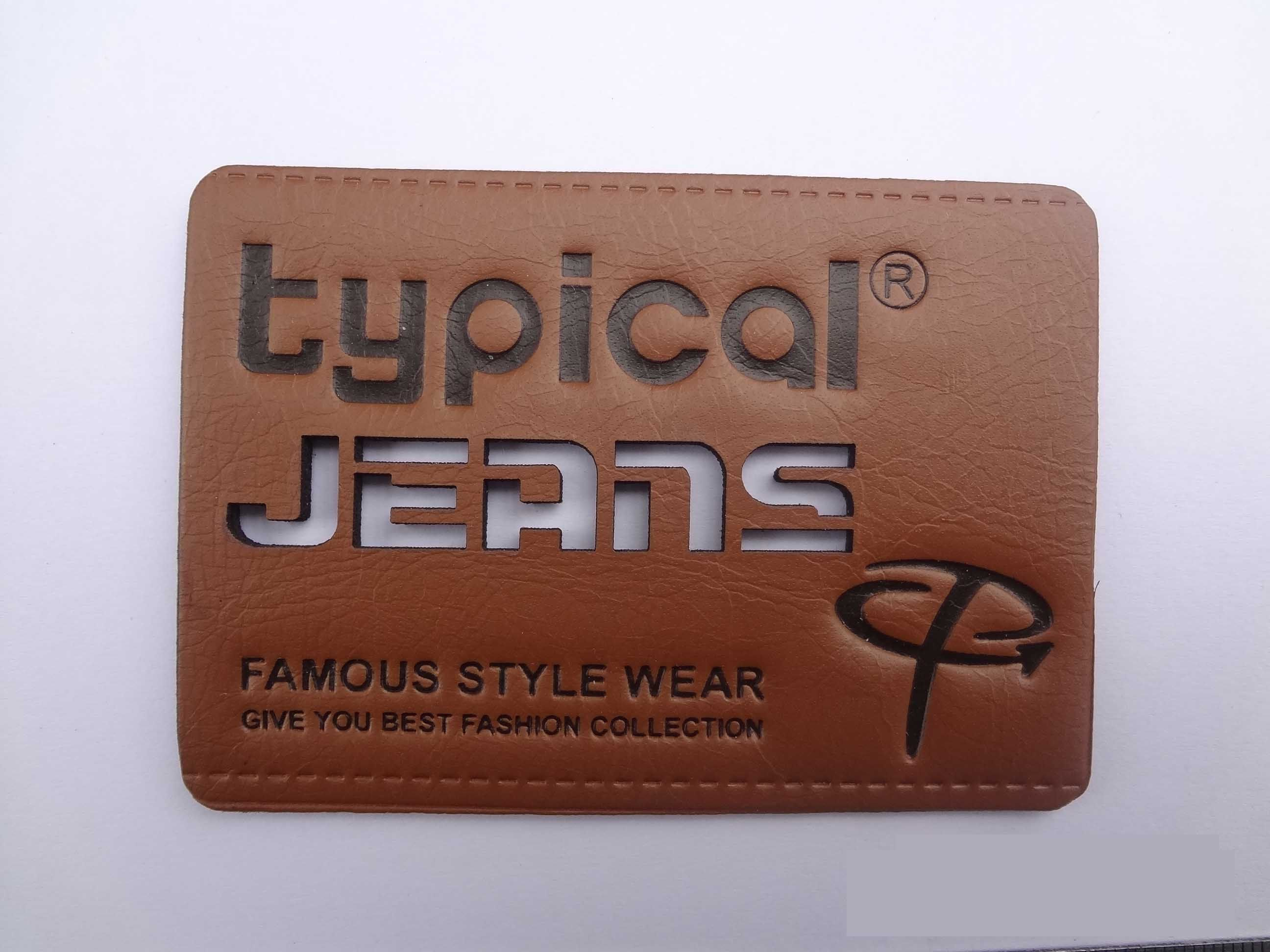 Fashion denim pu leather label patch pinterest for International decor brands