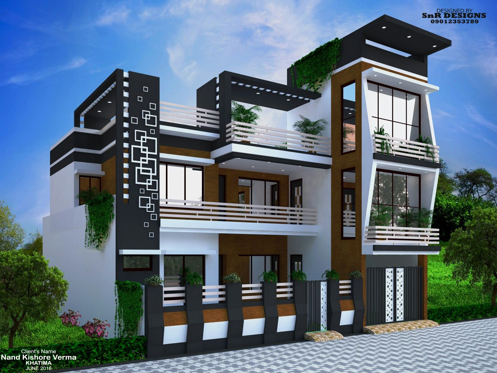 House elevation front designs room planning modern design compound wall also nice on rh pinterest