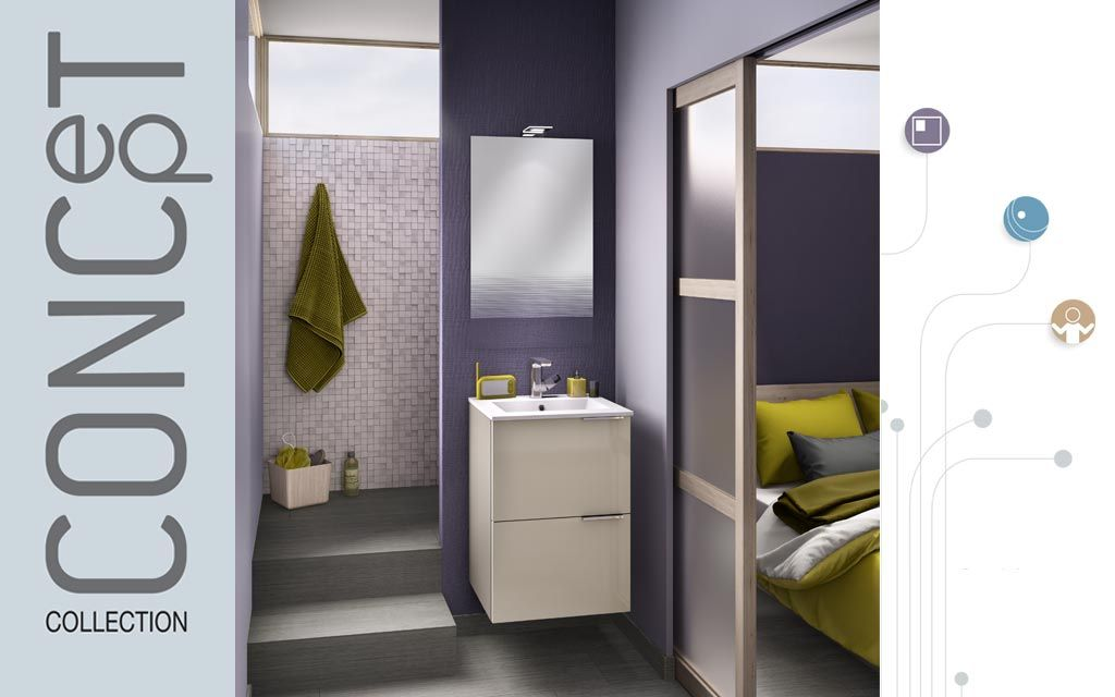 meuble salle de bain petite largeur kub delpha - Largeur Salle De Bain