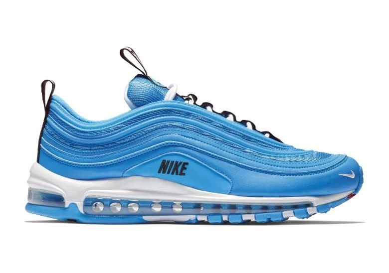 24dbe698af The Nike Air Max 97 Blue Hero Adds More Bold Logo Detailing ...