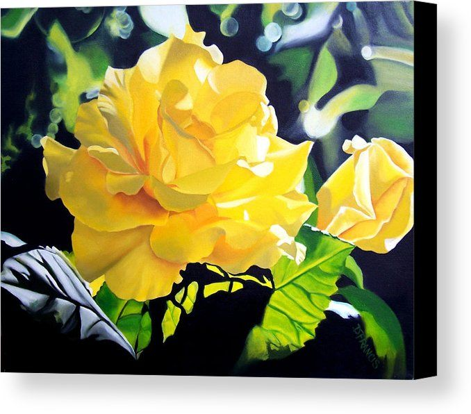 Yellow Roses Canvas Print / Canvas Art by Donna Francis | Yellow ...