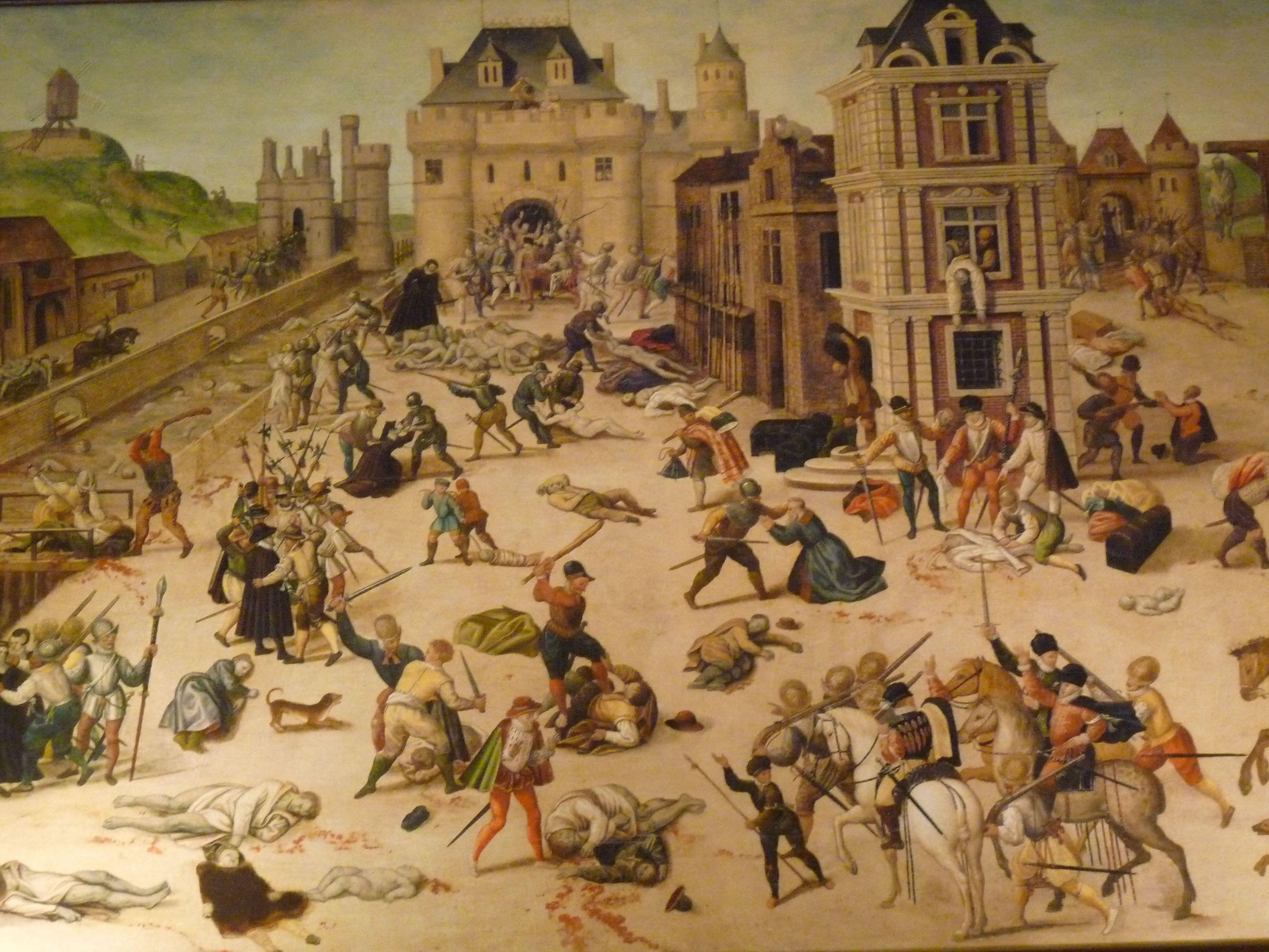 Saint Bartholomew's day massacre. Man the French are crazy!