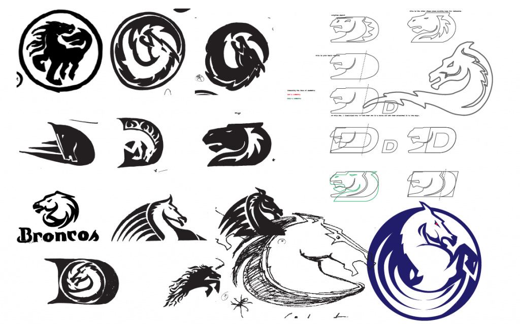 Denver Broncos Logo Sketches nfl football concept