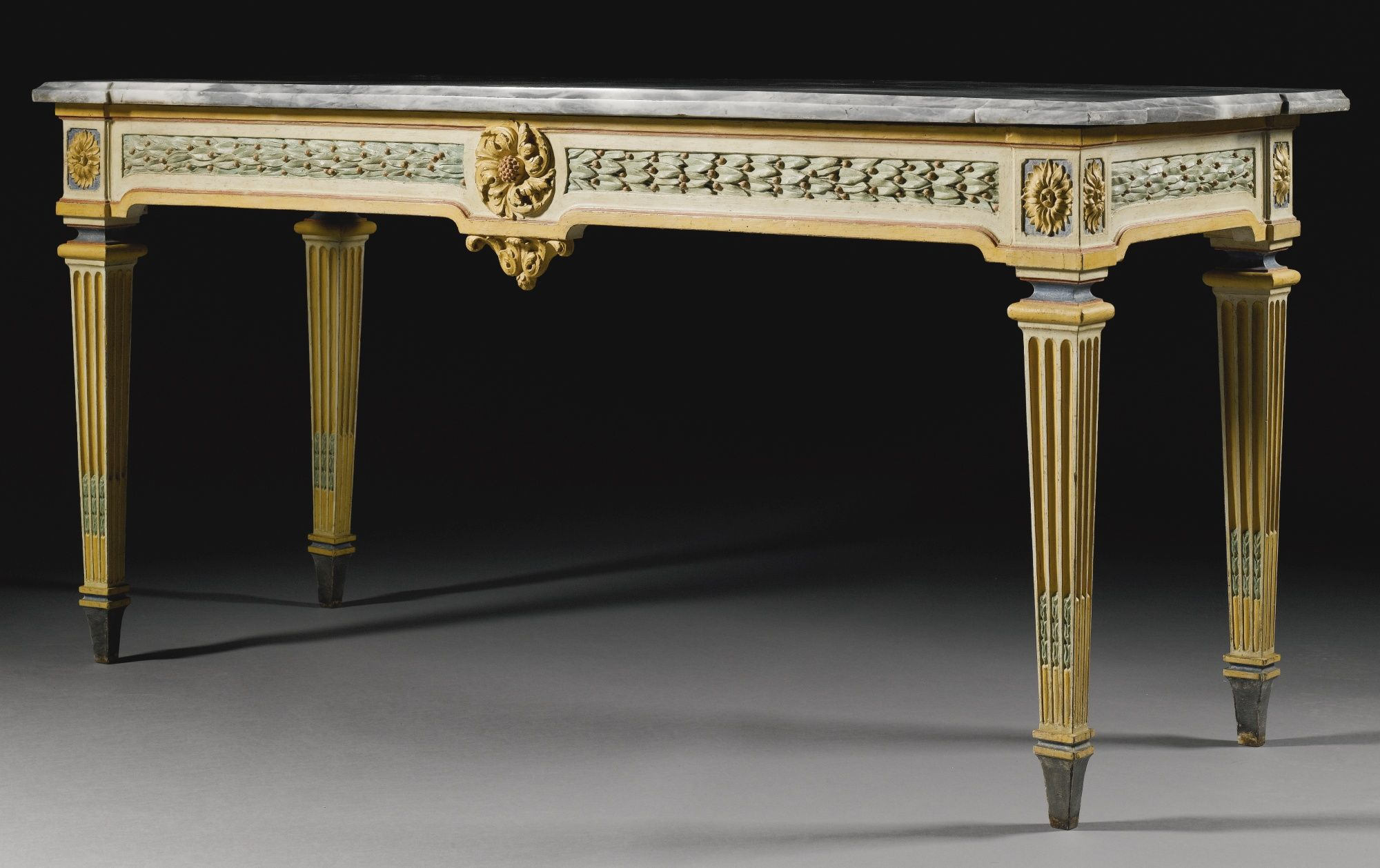 An Italian Polychrome Lacquered Console Table Piedmontese Br Late 18th Century Lot Sotheby S