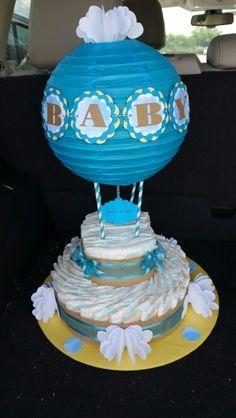 my first hot air balloon diaper cake babyshower diy ideas pinterest hot air balloons air. Black Bedroom Furniture Sets. Home Design Ideas