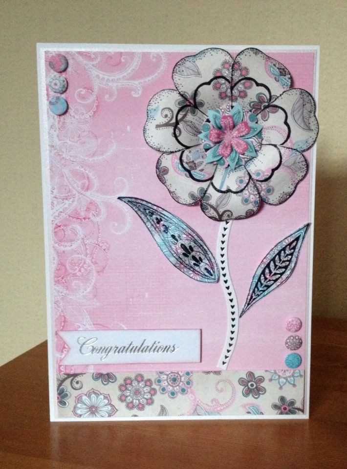 Congratulations Card Made Using Craftwork Cards Scrumptious Papers