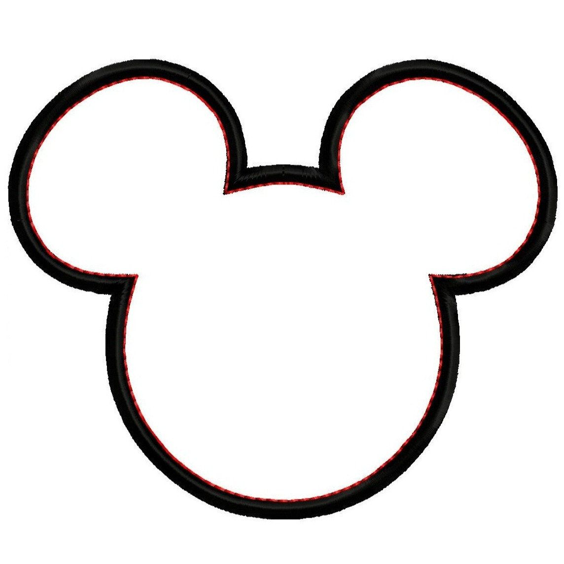 Nieuw Mickey Mouse Head Silhouette Clipart Panda Free Clipart Images SX-21
