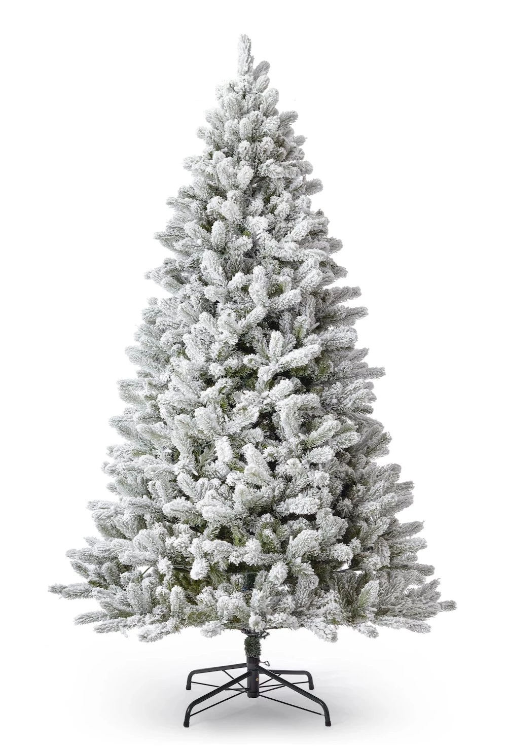 7.5' King Flock® Artificial Christmas Tree Unlit | Flocked ...