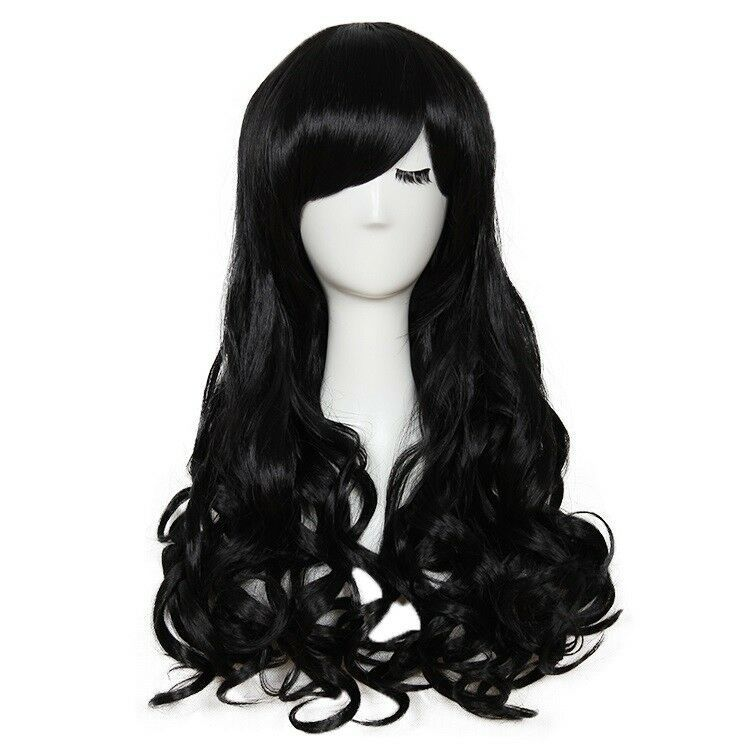 Fashion Full Wig Long Straight Wig Cosplay Party Costume Anime Hair Wigs Black Ebay Wig Hairstyles Full Wigs Straight Wig