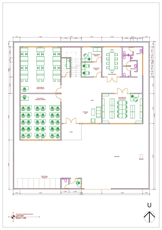 Desain Gedung Sekolah 3 Lantai : desain, gedung, sekolah, lantai, Denah, Sekolah, Lantai, Lantai,, Arsitektur, Sekolah,, Rumah