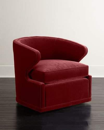 Cool Dyna St Clair Red Velvet Swivel Chair Products In 2019 Theyellowbook Wood Chair Design Ideas Theyellowbookinfo