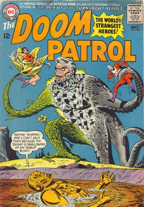 Doom Patrol 95 May 1965 Cover By Bob Brown Silver Age Comics Comic Book Covers Batman Book
