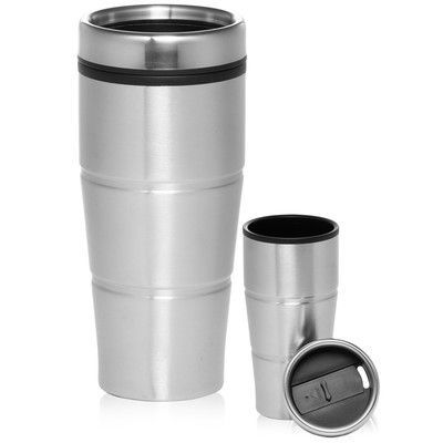9b1b80ea32e Natico Viking 2 Piece 16 Oz. Double Insulated Stainless Steel Travel Mug