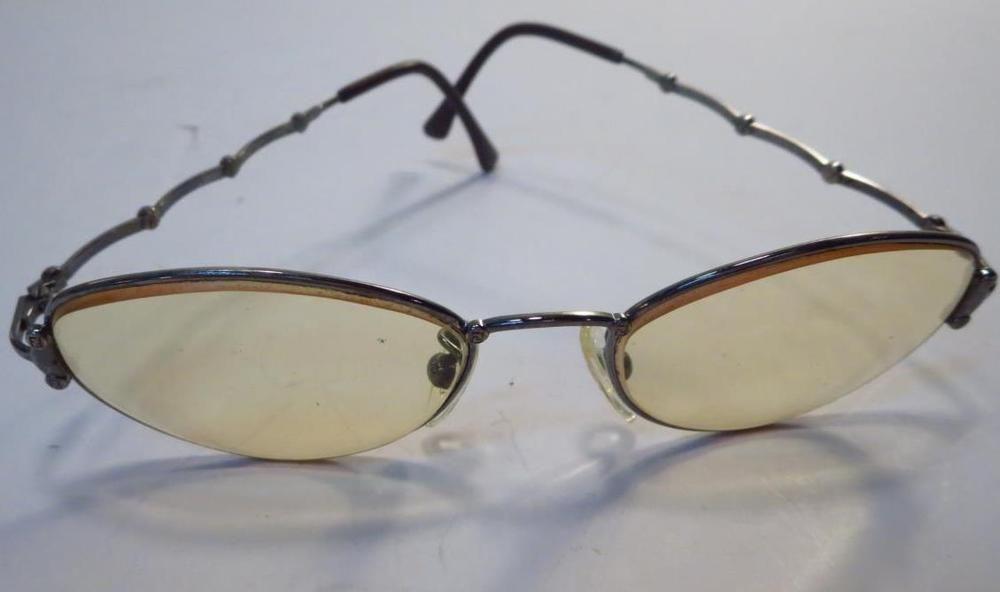 Fendi Logo Silver Tone Sunglass Frames Only Italy | Old school hip ...
