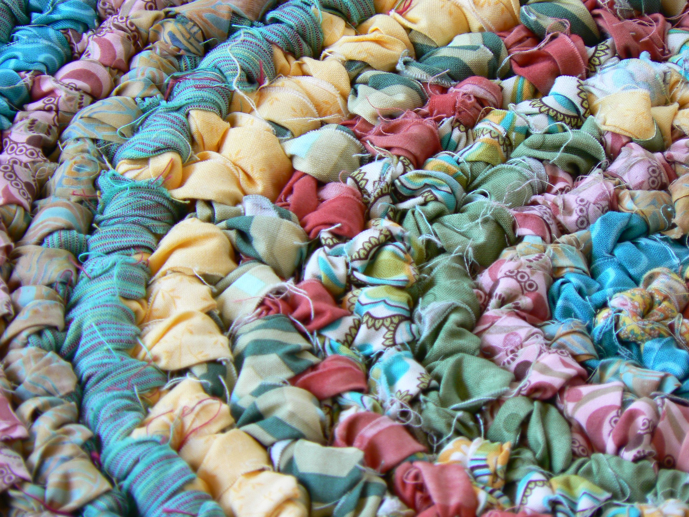 Pretty Rag Rug An Example Of A With Unfinished Strips