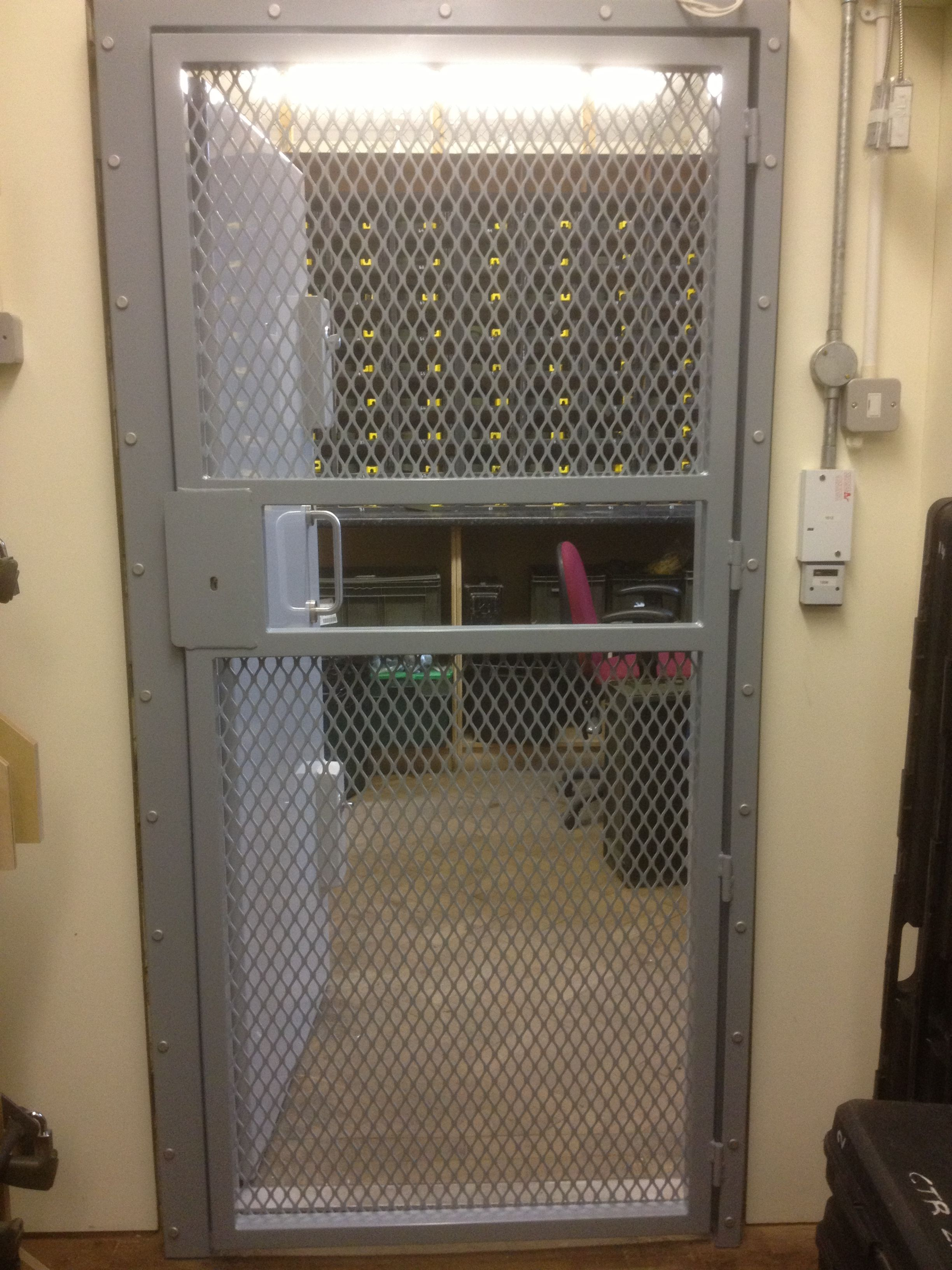 Commercial Security Doors rsg3000 security door gates fitted to the opening of an
