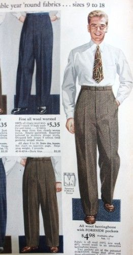 7849a459 1940s Teenage Fashion for Boys and Young Men | 1940s Mens Fashion ...