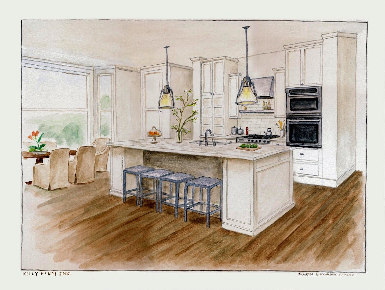 One Point Perspective Kitchen Imgurl