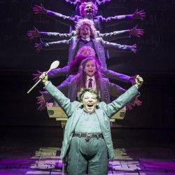 Harrison Vaughan as Bruce, Lizzie Wells as Matilda and the