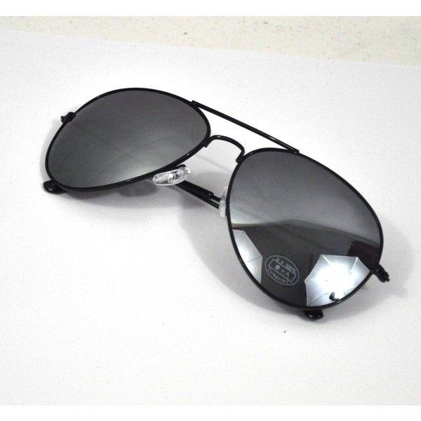 RETRO 80's Style Mirrored Black Aviator Sunglasses BNWT