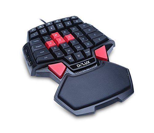 Deebol 46 Key Wired Professional Singlehanded Backlit Gaming Keyboard Mini Gaming Keypad Ergonomic Gamepad With 3 Color Led Backlight Keyboard Mini Led Color