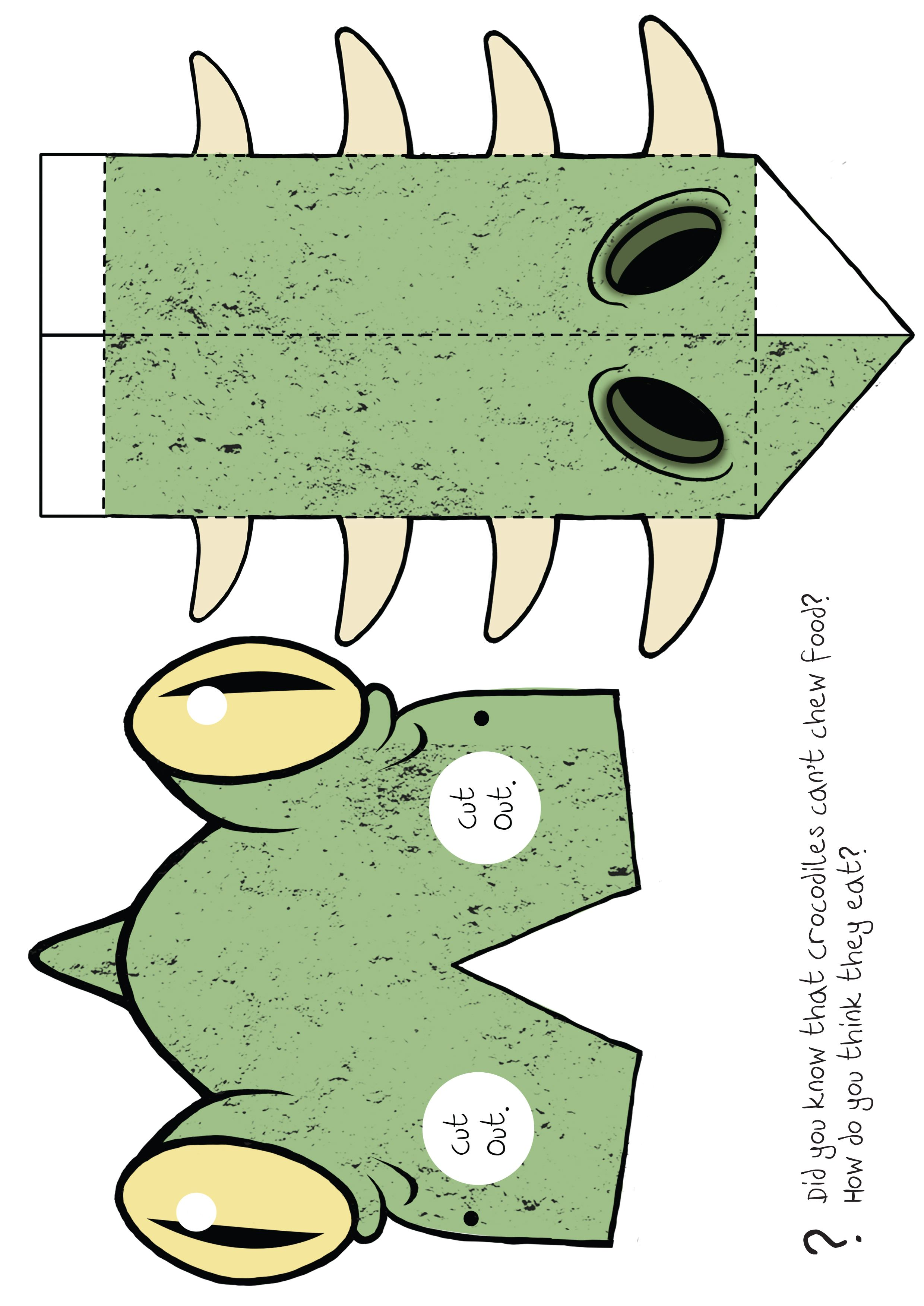 a colour version of the bernard the crocodile mask third